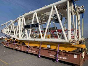 L C  Van Tiel Logistics recently shipped 2 units of Liebherr LR1750
